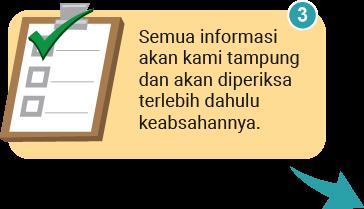 Semua informasi akan kami tampung dan akan diperiksa terlebih dahulu keabsahannya.